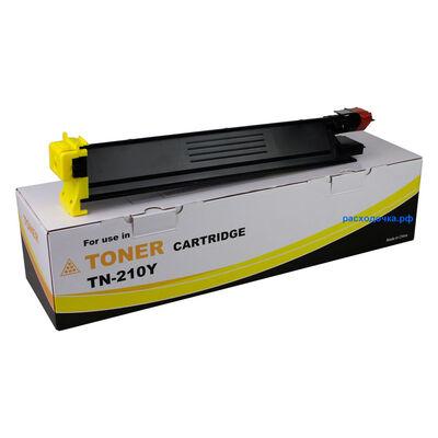 Картридж TN-210Y для Konica Minolta Bizhub C250, C252, C252P, C250P (тонер Tomoegawa) желтый