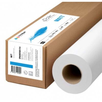 Бумага S'OK матовая для плоттеров с покрытием 36'' A0 914х45,7м втулка 50,8 мм 90 г/кв.м 1 рулон фото