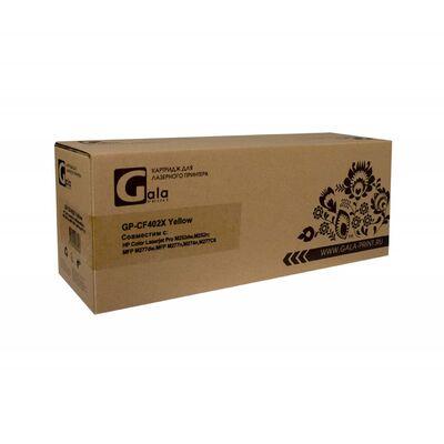 Картридж CF402X для HP Color LaserJet M277n, M252n, M277dw, M252dw GalaPrint желтый фото