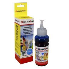 Чернила для Epson универсальные Cyan 100 мл водные голубые Colouring