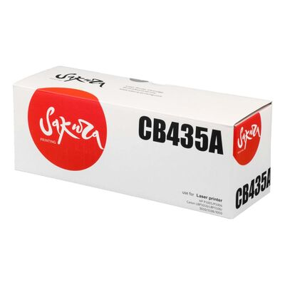 Картридж CB435A для HP LaserJet P1005, P1006, Canon LBP-3010, LBP-3010B 2000 стр. Sakura фото