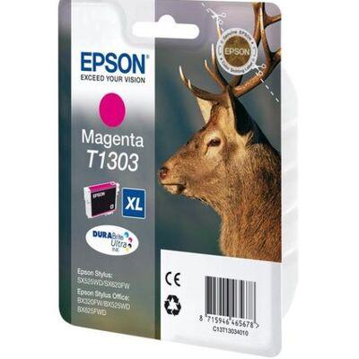 Картридж T1303 (C13T13034012) для Epson Stylus SX525WD, SX535WD, WorkForce WF-7525   экстраповышенной емкости пурпурный фото