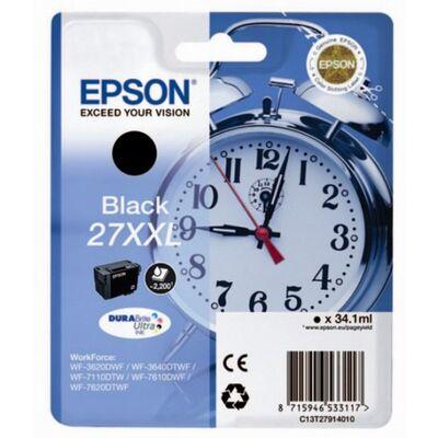 Картридж C13T27914022 для Epson WorkForce WF-7210DTW, WF-7710DWF, WF-7610DWF экстраповышенной емкости XXL (2200 стр.) черный фото