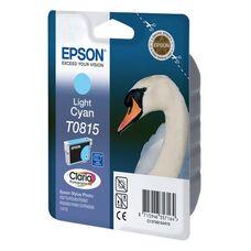 Картридж T0815 (C13T11154A10) для Epson Stylus Photo 1410, T50, TX650, R270 со светло-голубыми чернилами, повышенной емкости