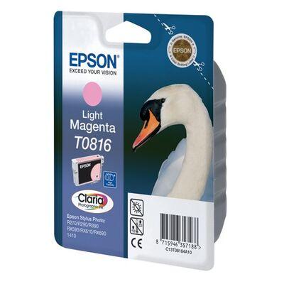 Картридж T0816 (C13T11164A10) для Epson Stylus Photo 1410, T50, TX650, R270 со светло-пурпурными чернилами, повышенной емкости фото