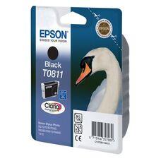 Картридж T0811 (C13T11114A10) для Epson Stylus Photo 1410, T50, TX650, R270 с черными чернилами, повышенной емкости